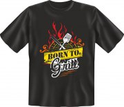 Fun Shirt Born to Grill grillen T-Shirt Spruch witzig Geschenk