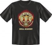Fun Shirt BBQ GRILL ACADEMY grillen T-Shirt Spruch
