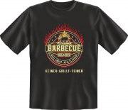 Fun Shirt BARBECUE KEINER GRILLT FEINER T-Shirt Spruch