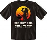 Fun Shirt DER MIT DEM GRILL TANZT T-Shirt Spruch