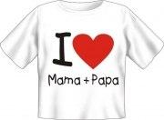 T-Shirt Baby I LOVE MAMA UND PAPA