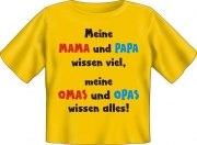 T-Shirt Baby MAMA PAPA WISSEN VIEL OMAS OPAS WISSEN ALLES