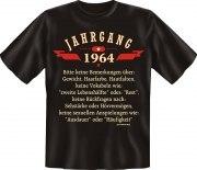 T-Shirt Jahrgang 1964 Geburtsjahr Geburtstag Jahrgänge Shirt Geschenk