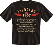 T-Shirt Jahrgang 1967 Geburtsjahr Geburtstag Jahrgänge Shirt Geschenk