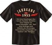 T-Shirt Jahrgang 1955 Geburtsjahr Geburtstag Jahrgänge Shirt Geschenk