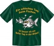 T-Shirt Angeln schlechter Tag Fischen Angler Fun Shirt