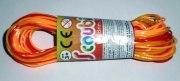 20 Stück Scoubidou Bänder 80cm orange Scoubidous Flechtbänder Knüpfen
