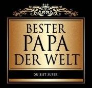 Aufkleber BESTER PAPA Etikett für Sektflasche Flasche selbstklebend Geschenk