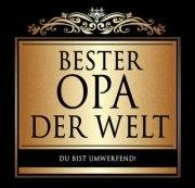 Aufkleber BESTER OPA Etikett für Sektflasche Flasche selbstklebend Geschenk