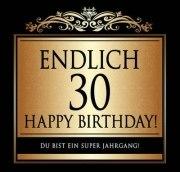 Aufkleber ENDLICH 30 ! Etikett Sektflasche Flasche selbstklebend 30. Geburtstag