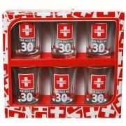 Schnapsglas 30. Geburtstag 6 Stück Medizin Schnapsgläser