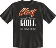 Fun Shirt CHEF AM GRILL T-Shirt Spruch