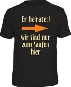 T-Shirt er heiratet! rechts
