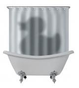 Duschvorhang DER SCHATTEN DER ENTE, Duschvorhang für die Badewanne