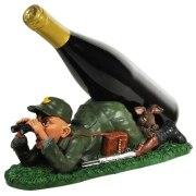 Jäger als  Flaschenhalter jagen Jagd  Flaschenständer