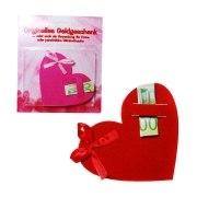 Geldgeschenk Herz Geschenkverpackung Geburtstag Geld Geschenk