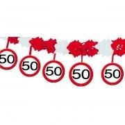 Girlande 50. Geburtstag Schild Party Deko Partydeko 4m