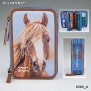 Horses Dreams Depesche Federtasche 3-fach Federmappe Pferde Etui