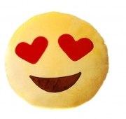 Kissen smile face Gesicht  gelb Herz Kuschelkissen Plüsch