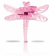 Clips für Orchideen, 6 Stück im Blisterpack, Libelle pink