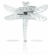 Clips für Orchideen 6 Stück im Blisterpack Libelle klar transparent