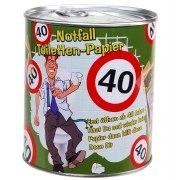 Toilettenpapier 40. Geburtstag in Dose WC Klopapier 40 Jahre Geschenk