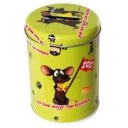 Spardose Mäuse zum Ausgeben Sparschwein Metall Schloß