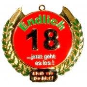 Orden Medaille Endlich 18 Geburtstag Geschenk