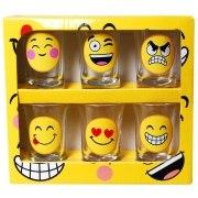 Schnapsglas 6 Stück Smile Faces Schnapsgläser Glas Geschenk