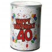Geschenkdose Happy Birthday 40 Geburtstag