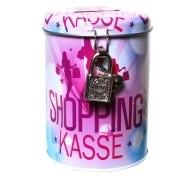Spardose Shopping Kasse Metall Sparbüchse shoppen Geschenk
