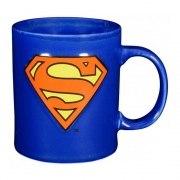 SUPERMAN Becher Tasse Kaffeebecher dunkelblau